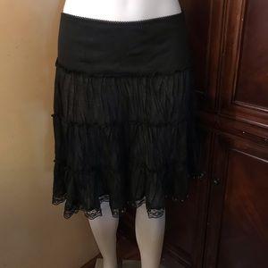 🆕 Finesse Black Midi Skirt-Small